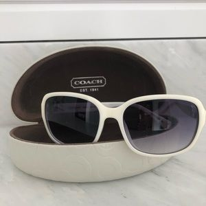 Coach sunglasses with white frame for women